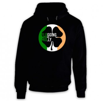 New Hoodie T-Shirt Flogging Molly Clover Irish 4 Leaf Logo Mens Tee Size S To 2XL