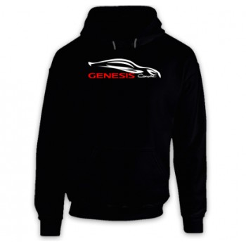 New Hoodie T Shirt Hyndai Genesis Coupe Outline Sports Cars Logo Mens Tee