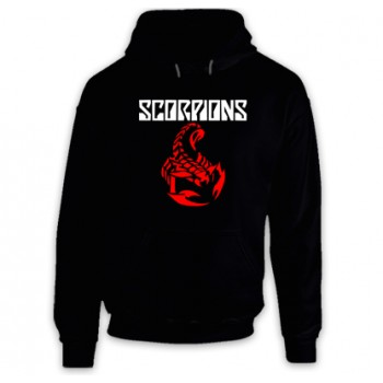 New Hoodie T-Shirt Scorpions Hard Rock Band Legend Logo Mens Tee Size S To 2XL
