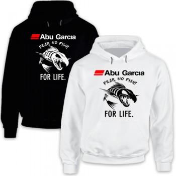 New T Shirt Abu Garcia Fear No Fish For Life Fishing Reel Mens Hoodie Tee