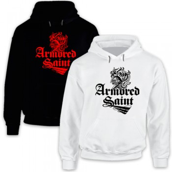New Hoodie T Shirt Armored Saint Rock Heavy Metal Band Logo Tee S-2XL