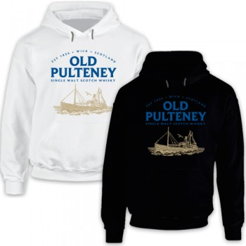 New Hoodie T-Shirt Old Pulteney Single Malt Scotch Whisky Logo Mens Tee Size S To 2XL