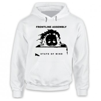 New Hoodie T-Shirt Front Line Assembly State of Mind Mens State of Mind Mens Logo Mens Tee Size S To 2XL