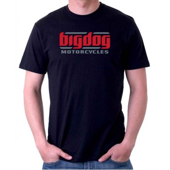 New Tee T-Shirt Big Dog Chopper Motorcycles Logo Mens Short Sleeve Size S To 5XL