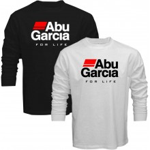 New T Shirt Abu Garcia Fear No Fish Fishing Reel For Life Mens Long Sleeve Tee