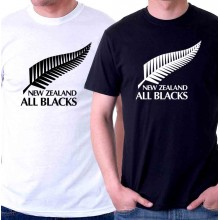 New Tee T-Shirt New Zealand All Blacks National Rugby Union Team Mens Size S To 5XL
