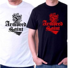 New T Shirt Armored Saint Rock Heavy Metal Band Logo Mens Tee Size S To 6XL