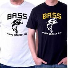 New T Shirt Bassmaster Bass Fishing Metal Logo Mens Short Sleeve Tee Sz S-6XL