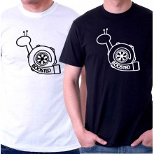 New T-Shirt Boosted Snail JDM Turbocharger Mens Short Sleeve Tee Sz S To 6XL