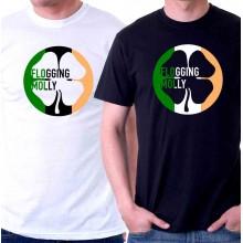 New Tee T-Shirt Flogging Molly Clover Irish 4 Leaf Mens Short Sleeve Size S-5XL
