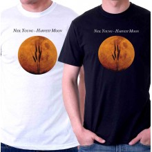 New T-Shirt Neil Young Harvest Moon Music Legend Album Cover Mens Tee Sz STo6XL