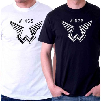 New T Shirt Paul Mccartney Wings Logo The Beatles Symbol Mens Tee Size S To 6XL