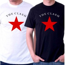 New T-Shirt The Clash Classic Star Punk Rock Band Logo Mens Tee Size S To 6XL