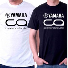 New T-Shirt Yamaha Commercial Audio Logo Mens Short Sleeve Tee Size S To 6XL