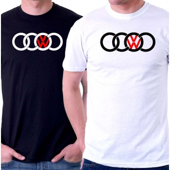 New T-Shirt Audi VW Volkswagen Logo Sports Racing Cars Mens Tees Size S To 6XL
