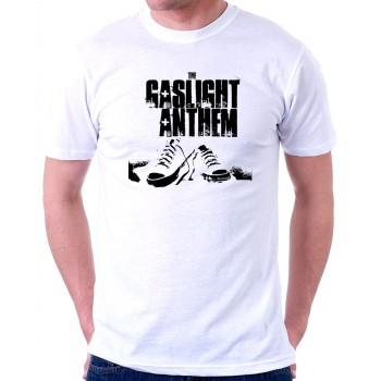 New Tee T-Shirt The Gaslight Anthem Rock Band Logo Mens Short Sleeve S-6XL