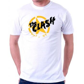 New T-Shirt The Clash Punk Rock Band Logo Mens Short Sleeve Tee Sz S To 6XL