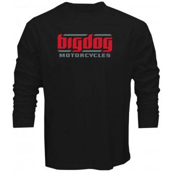 New Tee T-Shirt Big Dog Chopper Motorcycles Logo Mens Long Sleeve Size S To 5XL
