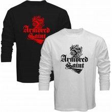 New T Shirt Armored Saint Rock Heavy Metal Band Logo Long Sleeve Tee S-5XL