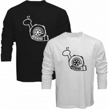 New T-Shirt Boosted Snail JDM Turbocharger Mens Long Sleeve Tee Sz S To 5XL