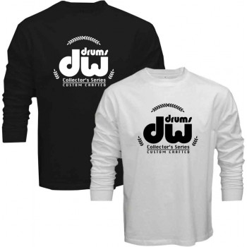 New Tee T-Shirt Dw Drums Collectors Series Custom Crafted Mens Long Sleeve