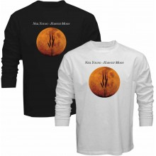 New T-Shirt Neil Young Harvest Moon Music Legend Album Cover Long Sleeve Tee S5XL