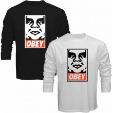 New Tee T-Shirt Obey Shepard Fairey Andre the Giant Has a Posse Mens Long Sleeve