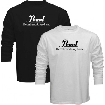 new t shirt pearl the best reason to play drums cymbal logo long sleeve tee s5xl. Black Bedroom Furniture Sets. Home Design Ideas