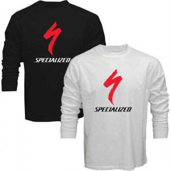 New Tee T-Shirt Specialized Mountainbike Downhill Mens Long Sleeve Size S-5XL