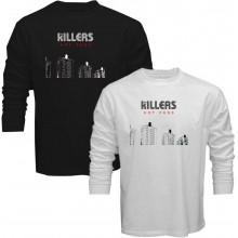 New Tee T-Shirt The Killers Hot Fuss Concert Tour Rock Band Mens Long Sleeve
