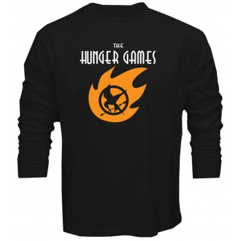 New Tee T-Shirt The Hunger Games Adventure Logo Mens Long Sleeve Size S To 5XL