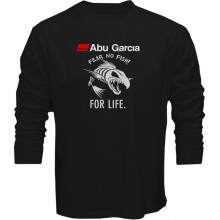 New T Shirt Abu Garcia Fear No Fish For Life Fishing Reel Mens Long Sleeve Tee