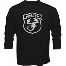 New T Shirt  Abarth Racing Rally Fiat Essesse 500 Sport Biposto Long Sleeve Tee