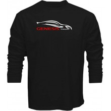 New T Shirt Hyndai Genesis Coupe Outline Sports Cars Logo Mens Long Sleeve Tee