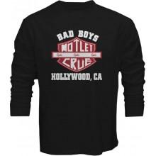New T Shirt Motley Crue Bad Boys Metal Rock Band Mens Long Sleeve Tee Sz S To 5XL