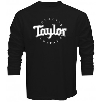 new t shirt tee taylor quality guitars logo guitar acoustic electric long sleeve. Black Bedroom Furniture Sets. Home Design Ideas