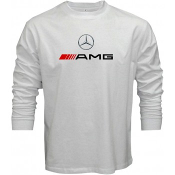 New T Shirt Mercedes AMG Benz Automotive Sports Cars Mens Long Sleeve Tee