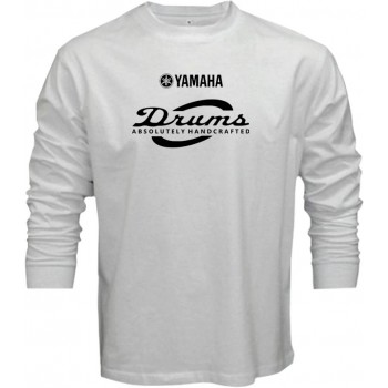 New T Shirt Yamaha Absolutely Handcrafted Cymbal Drums Mens Long Sleeve Tee S5XL