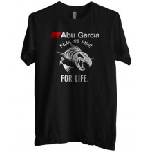 New T Shirt Abu Garcia Fear No Fish For Life Fishing Reel Mens Tee Size S To 6XL