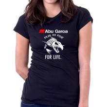 New T Shirt Abu Garcia Fear No Fish For Life Fishing Reel Womens Tee Sz S To 2XL
