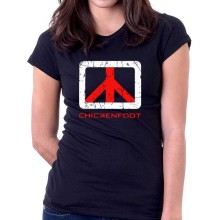 New T Shirt *Chickenfoot* Supergroup Band Logo Womens Ladies Tee Sz S To 2XL
