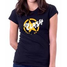 New T-Shirt The Clash Punk Rock Band Logo Womens Ladies Tee Sz S To 2XL