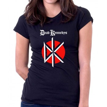 New Tee T-Shirt The Dead Kennedys Punk Rock Band Logo Womens Ladies S-2XL