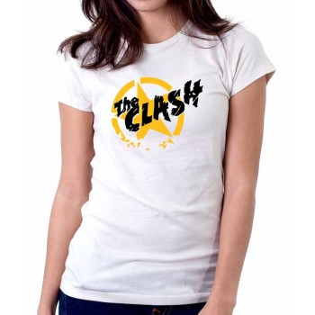 New T-Shirt The Clash Punk Rock Band Logo Womens Ladies Tee Sz S To 2XL