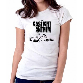 New Tee T-Shirt The Gaslight Anthem Rock Band Logo Womens Ladies S-2XL