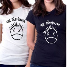 New Tee T-Shirt The Distillers Punk Rock Band Logo Womens Ladies S-2XL