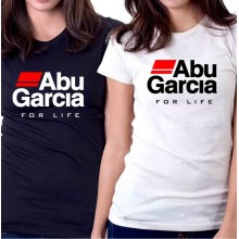 New T Shirt Abu Garcia Fear No Fish Fishing Reel For Life Womens Short Sleeve Tee