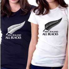 New Tee T-Shirt New Zealand All Blacks National Rugby Union Team Womens Sz S-2XL