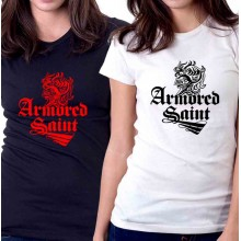 New T Shirt Armored Saint Rock Heavy Metal Band Logo Womens Tee Sz S To 2XL