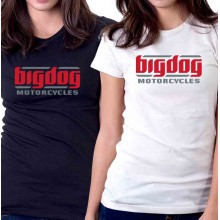 New Tee T-Shirt Big Dog Chopper Motorcycles Logo Womens Ladies Size S To 2XL